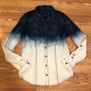 Harley Davidson long sleeve button down shirt
